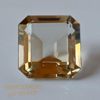 Citrín z Vysočiny 26x26x16mm Váha: 71.3ct /VIDEO/